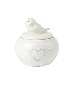 Urchin Art Birdie Sugar Pot With Dotted Heart - Miles For Style Sugar Pot, Sale Sale, Jar, Decor, Style, Swag, Decoration, Jars, Decorating