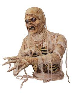 Zombie Mumie Halloween Party-Deko weiss-grau 81x28x53cm zombie
