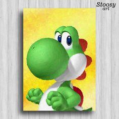 Yoshi Wallpaper by kurama on DeviantArt Mini Canvas Art, Diy Canvas, Yoshi Drawing, Room Wall Painting, Wall Art, Mario And Luigi, Amazing Art, Iphone Wallpaper, Drawings