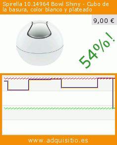 Spirella 10.14964 Bowl Shiny - Cubo de la basura, color blanco y plateado (Cocina). Baja 54%! Precio actual 9,00 €, el precio anterior fue de 19,36 €. https://www.adquisitio.es/spirella/1014964-bowl-shiny-cubo