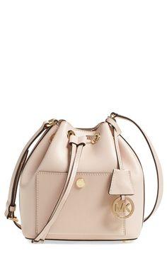 MICHAEL Michael Kors 'Small Greenwich' Leather Bucket Bag