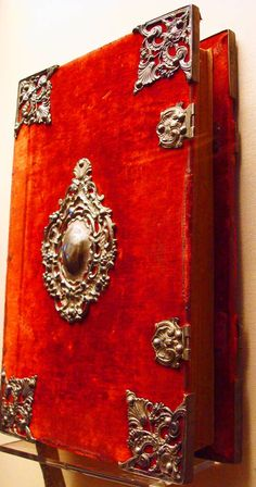 18th century red velvet binding