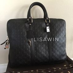 % Authentic Gucci Guccissima Brief Case⚜ Brand new with tag, dust bag and box. Retail $1590 plus tag Gucci Bags Laptop Bags