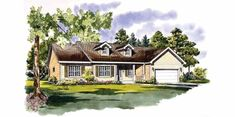 Country House Plan with 1670 Square Feet and 3 Bedrooms from Dream Home Source | House Plan Code DHSW03806
