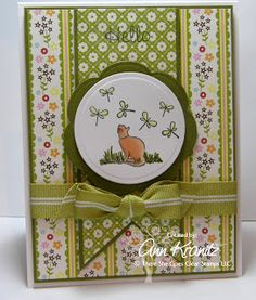 Created by Ann Kranitz! Vintage Greeting Cards, Clear Stamps, Birthday Cards, Decorative Plates, Create, Holiday Decor, Garden, Blog, Life