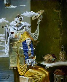 Michael Cheval - ECHO da idade de ouro - óleo sobre tela