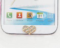 Samsung Galaxy Note 3 N9000 Crystal Home Button Sticker - Heart
