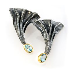 Blue topaz earrings from the online boutique of creative jewellery of G. Kabirski | 200726 K (=)