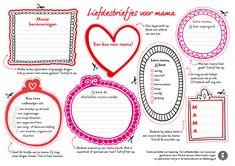 Liefdesbriefjes voor mama #gezinnig #moederdag