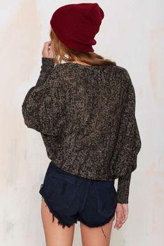 FOXIEDOX Freedom Crop Sweater - Sweaters