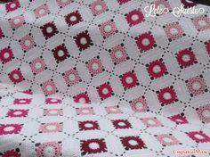 crochelinhasagulhas: Colcha de square em crochê