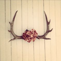 Floral antlers Antlers, Skull, Homemade, Floral, Horns, Flowers, Home Made, Diy Crafts, Do It Yourself
