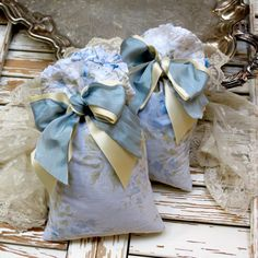 Lovely Shabby Chic  Lavender Sachets by redstripevintage