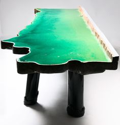gaetano pesce  lake table  2012  rigid polyurethane foam, PVC, epoxy resin, soft urethane resin  editions david gill,