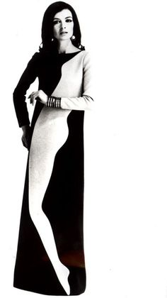 Graphic Whimsy. Yves Saint Laurent, 1966.