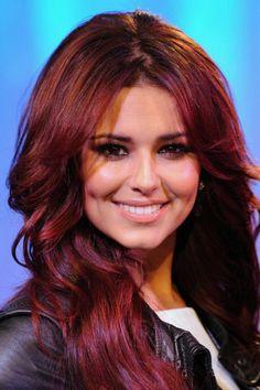 teinture acajou coiffure cheveux longs acajou - Coloration Cheveux Auburn