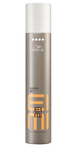 EIMI super set toma el control total de cualquier aspecto acabado con este extrafuerte aerosol de acabado. Formulado para ayudar a proteger tu cabello de los efectos de la humedad, los rayos UV y el calor.