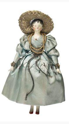 Rebekah, Countess Of Mountjoy -Queen Victoria's Dolls. Museum of London Victorian Dollhouse, Dollhouse Dolls, Miniature Dolls, Modern Dollhouse, Miniature Houses, Victorian Dolls, Vintage Dolls, Vintage Paper, Victorian Era