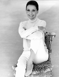 Audrey Hepburn in 1992; she only got lovelier the older she became!
