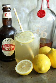 Lemon Ginger Bourbon Fizz by Heather Christo