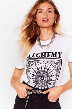 Women's T-Shirts   Oversized & V Neck T-Shirts   Nasty Gal Warm Outfits, Retro Outfits, Boho Outfits, European Fashion, Nasty Gal, Affordable Fashion, Autumn Winter Fashion, V Neck T Shirt, Women Wear