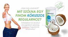 Finom is... fogyaszt is... az ára is jó... Mi az? Premium Diet Regular - kókusz ízben (is).  #diéta #dieta #fogyókúra #fogyokura #zsírégető #zsiregeto  #kókuszosshake #jópatikus #jopatikus Diet Program, Shake, Fiber, Drinks, Drinking, Smoothie, Beverages, Low Fiber Foods, Drink