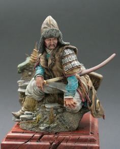 Seated Mongol by Michael Volquarts · Putty&Paint