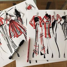 #brainstorming with some rough sketches... #fashionstrokes