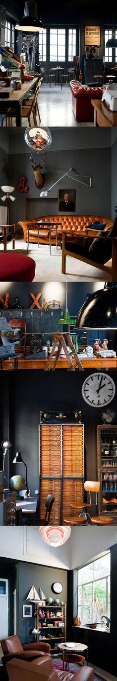 Stylish patina, rough luxe market, industrial chic, virginia, vintage furniture... www.stylishpatina.com/roughluxe vignette design: Industrial Chic