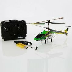 "New 3.5Channel Infrared Remote Control Helicopter Built-in Electronic Gyroscope Green by Crazy Cart. $26.99. Features: 1. It is very easy to control 2. A fantastic gift for your kid 3. It will bring your kid lots of fun 4. Beautiful and classic toy 5. Flight Control: Infrared Remote Control 6. It will be a good companion of your kid 7. It will give your kid unforgettable memory on special days  Specifications: 1. Main Rotor Diameter: 6.89"" / 175 mm 2. Channel: 3.5 3. Body Mate..."