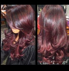 Eggplant hair color