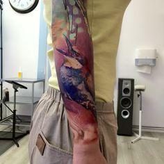Bird Tattoo. Artist Dominik Szymkowiak. Artline studio