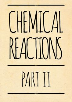 Compound Interest — Here's part 2 of the chemical reactions posters,...