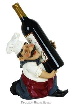 Benzara Chef Wine Bottle Holder Made of Cold Cast Resin Composite Material Fat Chef Kitchen Decor, Bistro Kitchen, Kitchen Rack, Decorating Kitchen, Kitchen Ideas, Kitchen Dining, Chefs, Contemporary Wine Racks, Wine Bottle Holders