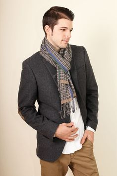 a3ae3a992 Anika Dali Men's Classic Tokyo Checkered Fashion Scarf / www.AnikaDali.com  / Men's Scarves. Mens Gift Ideas. Holiday Gifts. #ANIKADALI