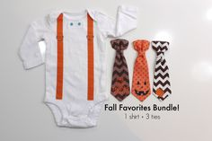 Baby Boy Fall Outfits. Newborn Boy Halloween Thanksgiving Clothes. Chevron Tie and Suspenders. First Thanksgiving. Pumpkin. Infant Boy. by CuddleSleepDream on Etsy https://www.etsy.com/listing/247543801/baby-boy-fall-outfits-newborn-boy