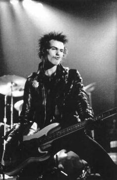 Sid Vicious __ SEX PISTOLS .... everybody's favorite killer-guitarist.  oh. & the Chelsea Hotel in NYC on 23rd st. is being made into CONDO's. ugh