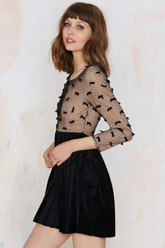 To Be Adored Abi Velvet Dress - Going Out | Fit-n-Flare