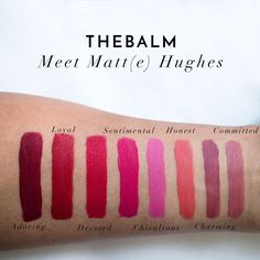 The Beauty Vanity | theBalm Meet Matt(e) Hughes Liquid Lipstick Swatches Review