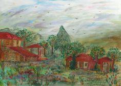 След дъжда Рисувана на платно смесена техника размер 50 / 70 см.  Аfter the rain Painted on canvas mixed technic size 50/70 cm  100% Hand Painted by  Artist Ana Nyagul