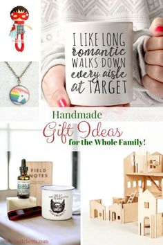 Handmade Gift for the Whole Family-A collection of gift guides of unique gift ideas from Etsy shops. Perfect gifts for Christmas, Stockings, Easter Baskets, Teacher Appreciation, Mother's Day, Father's Day, baby shower gift. Gift ideas for boys and girls. moms and dads!