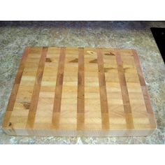 Kitchen Chef 1st Choice, Large Heavy Duty End Grain Butcher Block,... (€81) ❤ liked on Polyvore featuring home, kitchen & dining, kitchen gadgets & tools, chef cutting board, butchers block chopping board, red oak butcher block, maple butcher block and butcher block cutting board