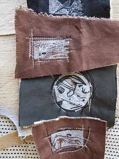 Diane Ericson- stitching on small pieces