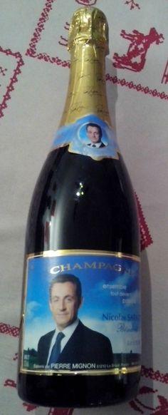 Champagne Nicolas Sarkozy chez Pierre Mignon.