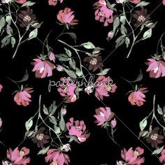 Dark floral wallpaper patterns pinterest floral wallpapers midnight garden pink roses mightylinksfo