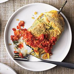 Chiles Rellenos Made Easy. You can stuff these babies with anything! My favorite stuffings are black beans, corn, squash, spinach, and goat cheese!