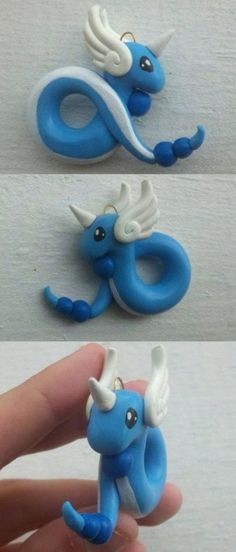 Dragonair clay pendant