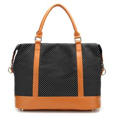 Large Weekender Carry-on Polka Dots Stripes Ambesonne Navy Blue Gym Bag