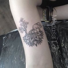 Elephant & Trees on Half Mandala tattoo by Medusa Lou Tattoo Artist - medusaloux@outlook.com