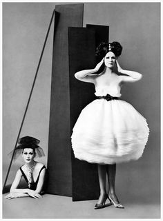 vintagechampagnefever:    Dovima and Betsy Pickering model Lanvin couture
